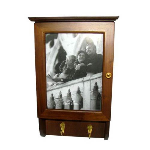 ארונית מפתחות מעץ משולבת מסגרת לתמונה