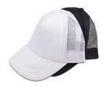 כובע רשת 5 פנלים בצבע מלא