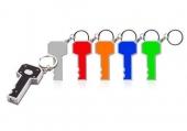 מחזיק מפתחות פנס לד בצורת מפתח